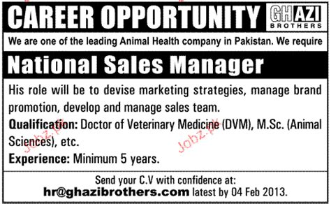 National Sales Managers by National Sales Manager Opportunity 2018 Pakistan Jobz Pk