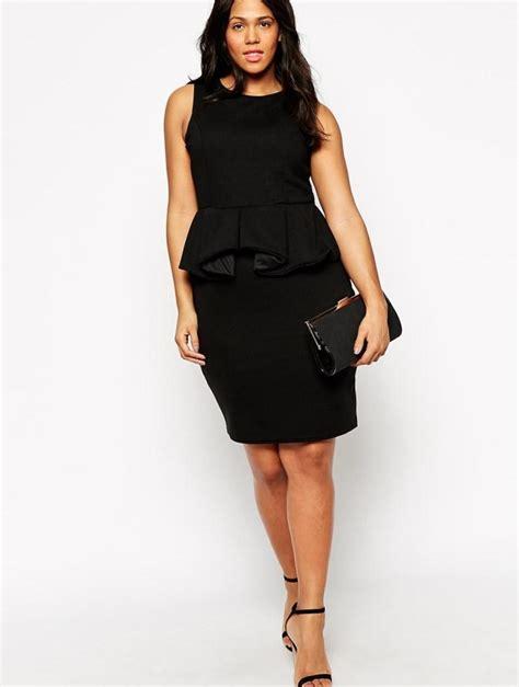 plus size leather peplum dress pluslook eu collection