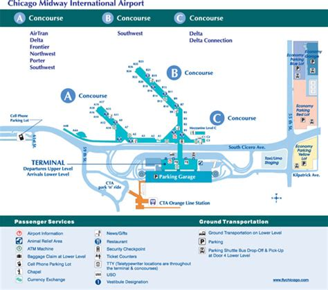 chicago midway map midway airport mdv smartcars inc chicago corporate