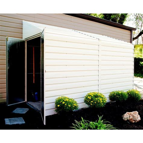 Metal Shed 10 X 4 by Arrow 4 Ft X 10 Ft Galvanized Steel Storage Shed Lowe S