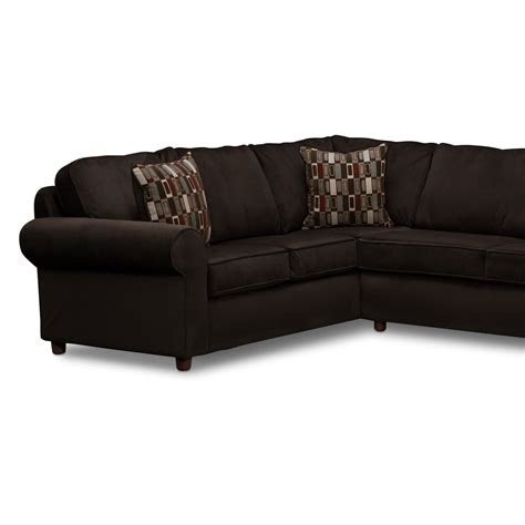 3 Pc Sectional Sofa Salina Chocolate 3 Pc Sectional Furniture