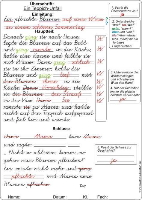 Formaler Brief Englisch Schluss Eine Geschichte Schreiben 3 Klasse
