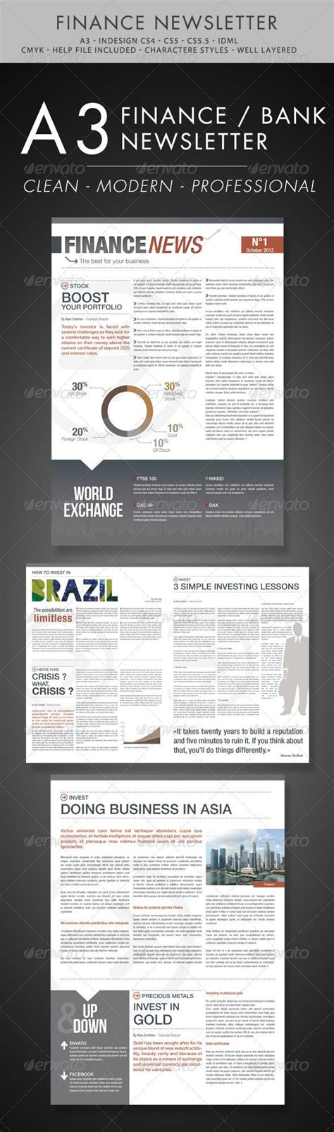 Finance And Business Newsletter Newsletter Templates Nice And Modern Financial Newsletter Templates