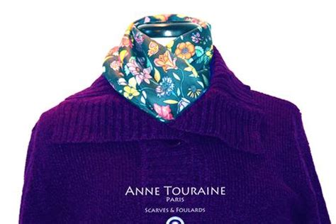 Blue Flower Blouse Point One the magical power of touraine paris floral grey silk