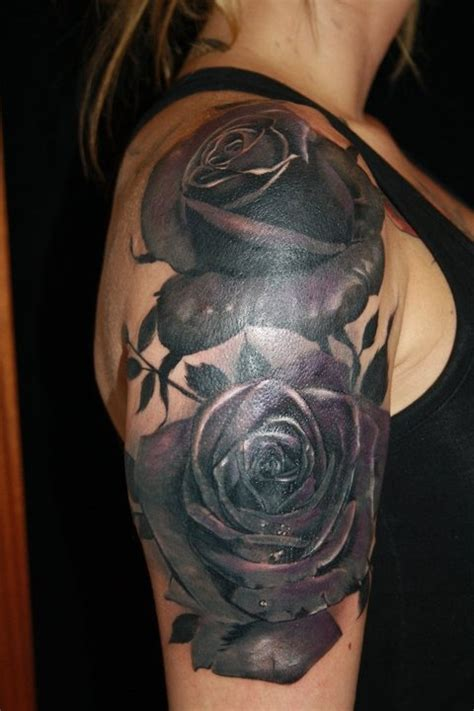 black rose tattoo arm black by juan design of tattoosdesign