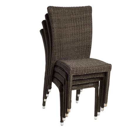 shop international home atlantic  count wicker stackable patio dining chairs  lowescom
