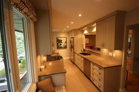 kitchen design idea gray kitchen for a narrow kitchen