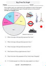 grade 6 pie and circle graph worksheets with sixth grade