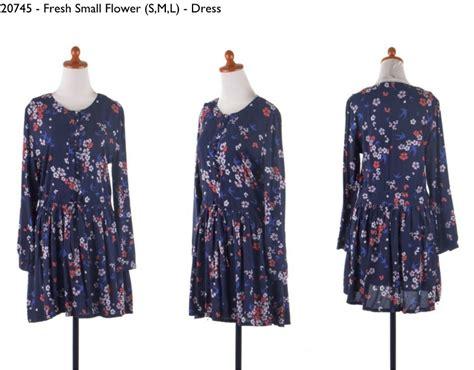 Kemeja Slim Import 2 Picture 30745 fresh small flower habis dress 202 000 soft