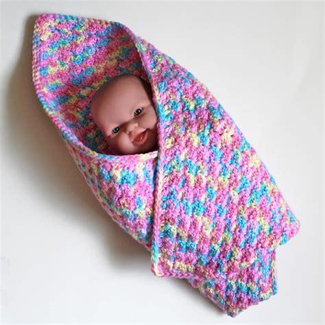 infant car seat blanket crochet baby blanket small preemie by barkingdogdesigns