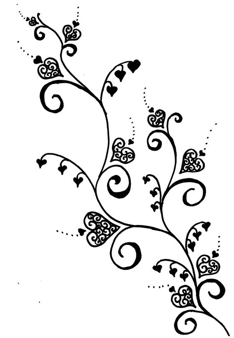 heart with vines tattoo design vine designs cool tattoos bonbaden