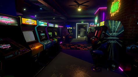 Retro Gaming Bedroom Wallpaper new retro arcade neon launches on steam for htc vive
