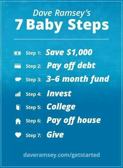 dave ramseys  steps money saving tips pinterest