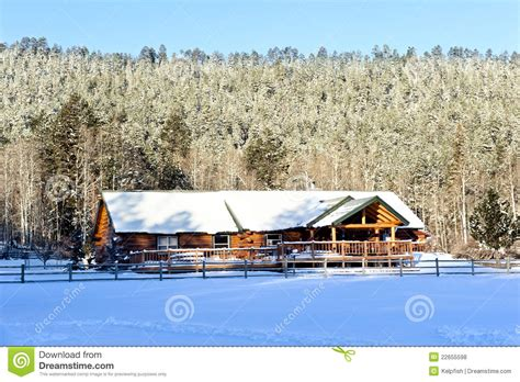 Snowmobile Cabin by Cabin In Snow Royalty Free Stock Photos Image 22655598