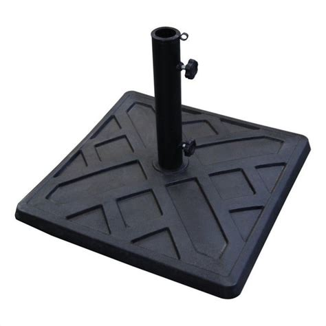 Patio Umbrella Bases Walker Edison Square Umbrella Base In Black 507192