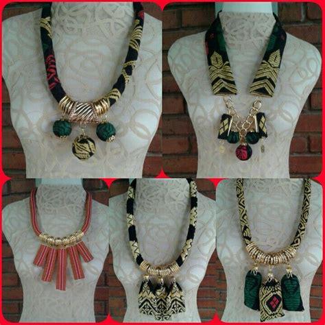 Kalung Batik Dengan Choker Logam pandora necklace sale fabric batik