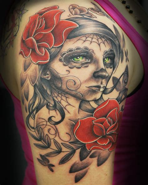 sugar skull woman tattoo sugar skull designs for