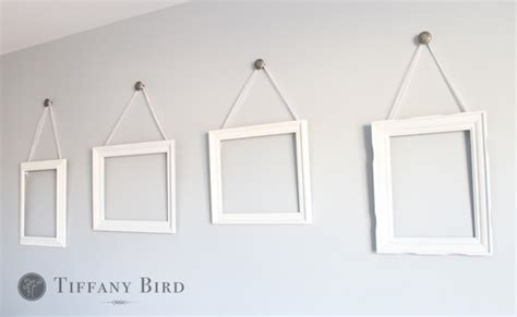 how to hang a picture frame simply modern mom 187 diy ribbon hanging wall frames tutorial