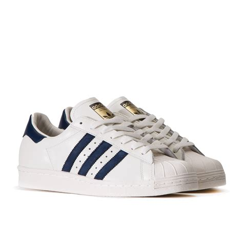Adidas Superstars adidas superstar 80 s dlx vintage white collegiate navy