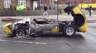 Lamborghini Burning Lamborghini Miura Sv Burns To The Ground In Central