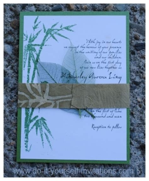 Bamboo Paper Wedding Invitations by Diy Bamboo Wedding Invitations