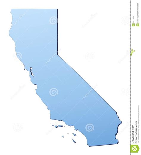 california map high resolution california map royalty free stock images image 4827409