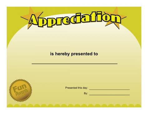 8 best images of silly award certificate template funny