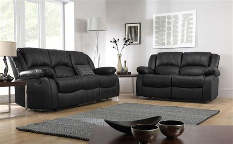 Leather Sofas Suites Dakota Leather Recliner Sofa Suite 3 2 Seater Black Only 163 899 98 Furniture Choice