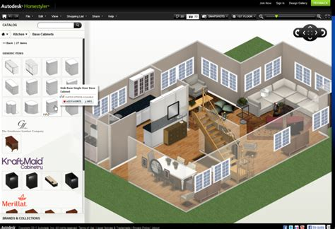 design your own home free 3d autodesk homestyler online