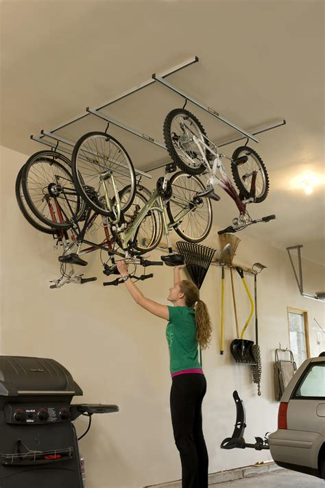 Garage Ceiling Bike Rack by Bicycle Storage Solutions Momentum Mag