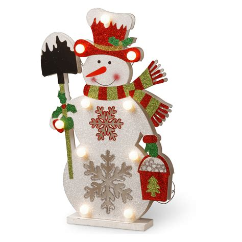 home decor holding company national tree company wood look double sided snowman