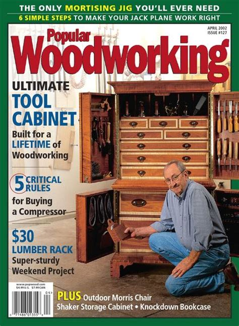 best woodworking magazines popular woodworking 127 april 2002 pdf magazine