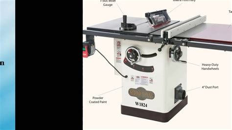 hybrid table saw reviews shop fox w1824 hybrid table saw with extension table