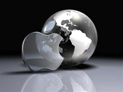 apple wallpaper globe apple logo and globe norebbo
