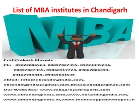 Mba Colleges In Chandigarh by List Of Mba Institutes In Chandigarh