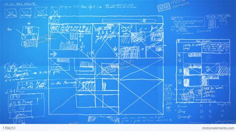 design blueprints graphic design layout process lapse blueprint stock