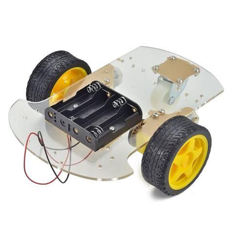 Smart Robot Car Chassis Chasis Kit Speed Encoder 2wd For Arduino 2wd smart robot car chassis kit speed encoder battery box