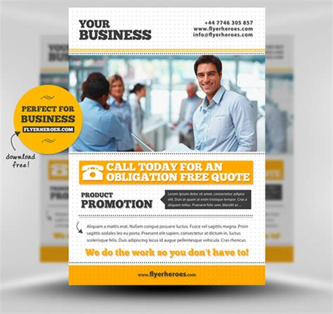 small business flyer template 30 amazing free flyer templates from flyerheroes extras