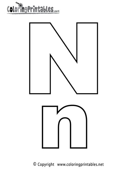 esl alphabet coloring pages alphabet letter n coloring page a free english coloring