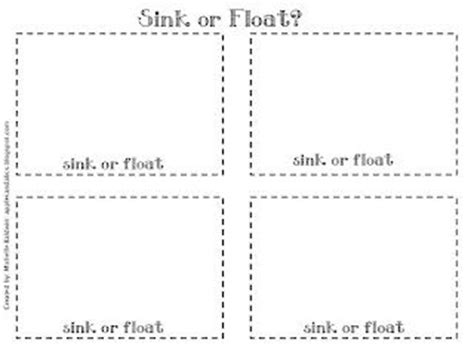 Sinking Sheet by Here S A Great Post Detailing A Sink Or Float Lesson