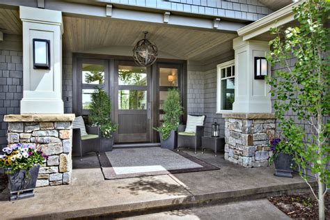 Exterior Porch Doors Front Porch Designs Porch Contemporary With Covered Entry