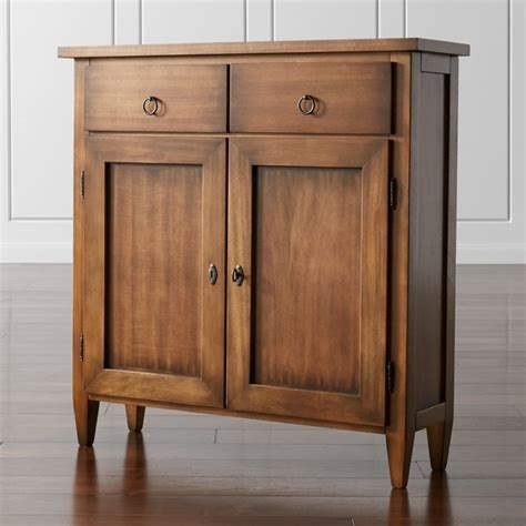 Cabinet Cabinets by Stretto Nero Noce Cabinet Crate And Barrel