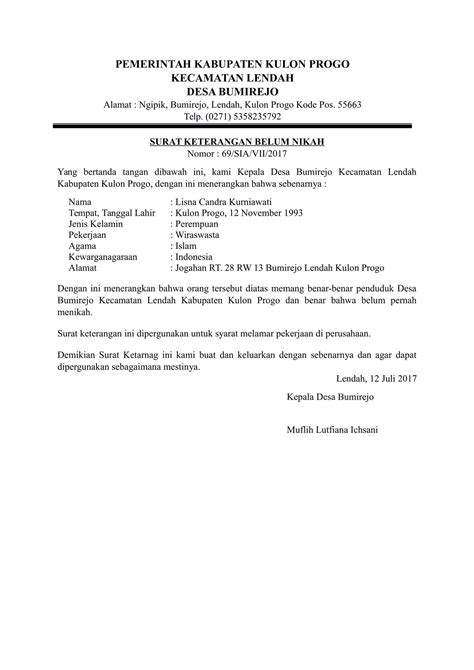 format surat keterangan jejaka contoh surat keterangan anggota gereja kotasurat com
