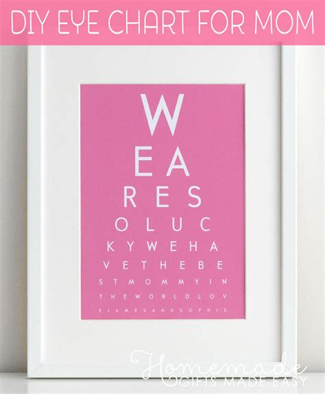 make s day gift diy eye chart personalized mothers day gift