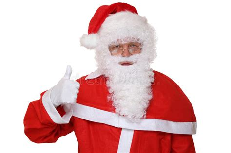 santa claus thumbs up santa claus showing on thumbs up isolated stock image image 57077349