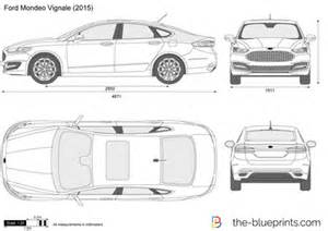 blueprints vector drawing ford mondeo vignale