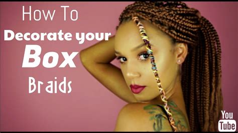 how do you put your braids in a bun how to decorate your box braids youtube