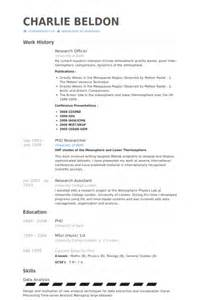 Researcher Resume Exles by Research Officer Resume Sles Visualcv Resume Sles Database