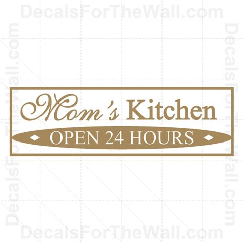 kitchen wall art quotes quotesgram mom s kitchen wall decal vinyl art sticker quote decor
