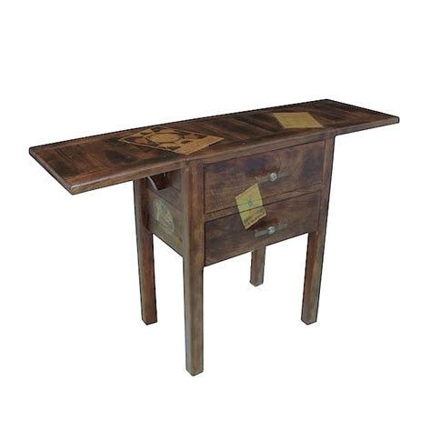 Folding Table With Drawers by Folding Casual Table 2 Flaps 2 Drawers Docker Wood